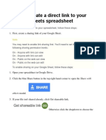 How to Create a Direct Link to Your Google Sheets Spreadsheet