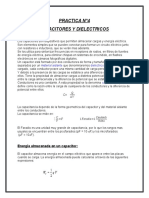 Capacitores y Di Electricos Fis200
