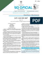 OK LEY 1123 DE 2007