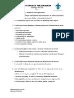 Cuestionario de Localización y Distribución de Las Organizaciones