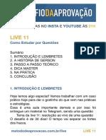 LIVE 11 ResumoExclusivo