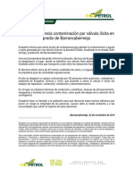 Ecopetrol denuncia contaminación por válvula ilegal
