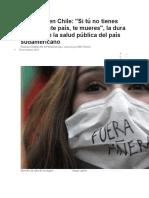 Chile Protestas en Chile Por Mala Atención de Salud Pública y Desigualdad