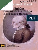 La Religión Dentro de Los Límites de La Mera Razón- Kant