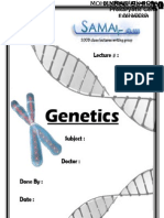 Genetics, Lecture 12 (LEcture Notes)