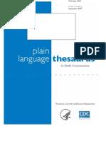 Plain Language Thesaurus for Health