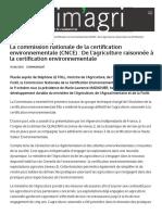 Agriculture Gouv Fr La Commission Nationale de La Certification Environnementale Cnce de Lagriculture Raisonnee La