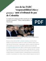 Los Exlíderes de Las FARC Admiten