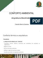 Unidade 3 - Arquitetura Bioclimatica