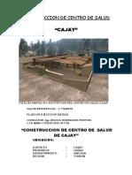 Memoria Caratula Centro de Salud Cajay