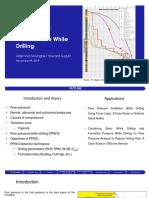 Pore Pressure Prediction While Drilling