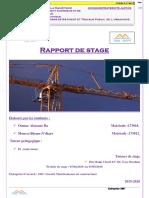 rapport de stage en construction