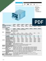 Cosel P300E 15 Datasheet