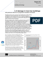BRE Digest 251 Assessment of Damage in Low-rise Buildings