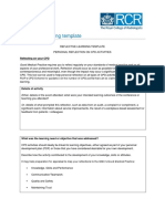 RCR CPD Reflective Learning Template