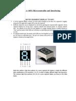 Microcontroller and Interfacing