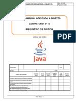 Lab 12 - Registro de Datos