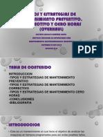Tipos y Estrategias de Mantenimiento Preventivo, Correctivo