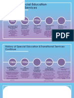 history of special education transitional services