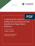 Técnica de construcción  de análisis  de escenarios en seguridad  y defensa