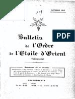 Bulletin de Lordre de Letoile Dorient 1919 n4 Oct