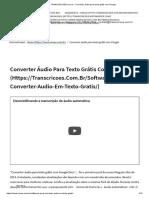 TRANSCRICOES.com.Br - Converter Áudio Para Texto Grátis Com Google
