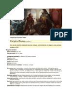 Vampiro Para DyD 4ta Edición