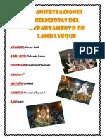 Manifestaciones Religiosas Del Departamento de Lambayeque