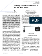Mathematical Modeling Simulation and Control of Ball and Beam System