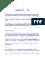 4 reasons to write