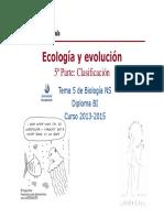 GTP_T 5.Ecología y Evolución (5ªParte.clasificación) 2013-15