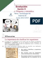 GTP_T7. Evolución (Parte 4.Filogenia y Sistemática) 2013-15