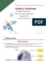 GTP_T10. Proteínas y Enzimas (2ª Parte_Enzimas) 2013-15