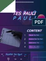 PPT TES PAULI