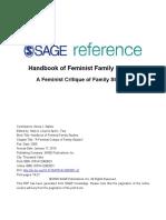 A Feminist Critique of Family Studies