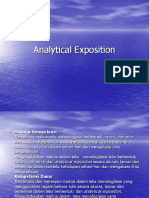 Analitical Exposition