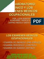 El Laboratorio Clinico y Los Examenes Medicos Ocupacionales - Presentacion