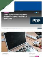 Siete Distribuciones Linux Que te ayudaran a recuperar el sistema