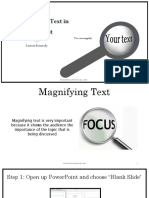 How to Magnify Text within PowerPoint
