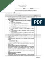 1. Breast Examination Prenatal Postpartum