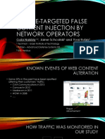 49 Website Targeted False Content Injection by Network Operators