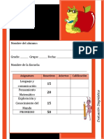 ejemplo para evaluar 1er Grado