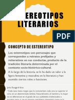 PRE Estereotipos Literarios U4 8V0 2018