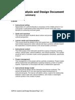 Analysis and Design Document