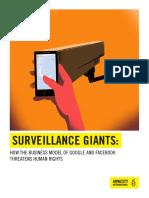 La vigilancia de Facebook y Google representa un peligro sin precedente para los derechos humanos