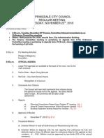 Springdale City Council Agenda for Nov. 23, 2010