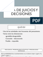 Toma de Juicios y Decisiones
