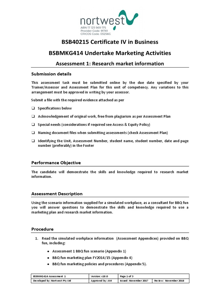 191845 Bsbmkg414 Assessment 1 V18 0 4 Docx Market Segmentation Marketing The acknowledgements or dedication page is optional. 191845 bsbmkg414 assessment 1 v18 0 4