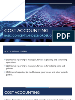 CH 01 - Basic Concepts and Job Order Cost Cycle