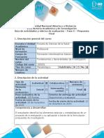 Guía de Actividades y Rubrica de Evaluación - Fase 5 - Propuesta Final